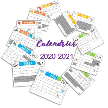 Calendrier 2020 2021